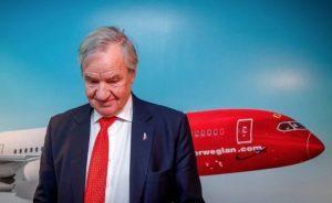 Bjorn Kjos lascia la guida di Norwegian. In calo gli utili del semestre
