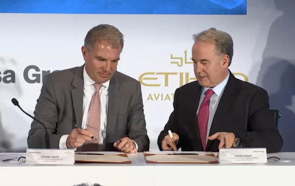 Etihad e Lufthansa: partnership su catering e manutenzione