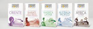 Mappamondo in agenzia con i cinque nuovi cataloghi