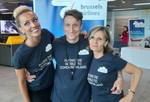 Brussels Airlines a Linate con il gate party di Tomorrowland
