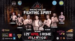 Tat e Thai Airways sponsor di Amazing Thailand Fighting Spirit