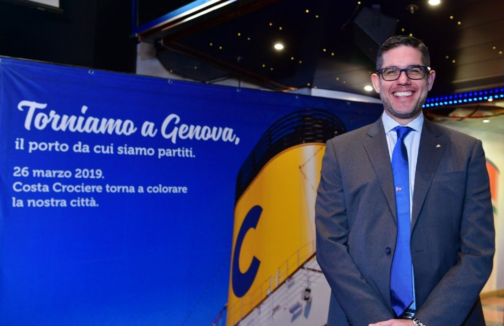 Costa Crociere torna a Genova: 40 gli scali previsti nel 2019