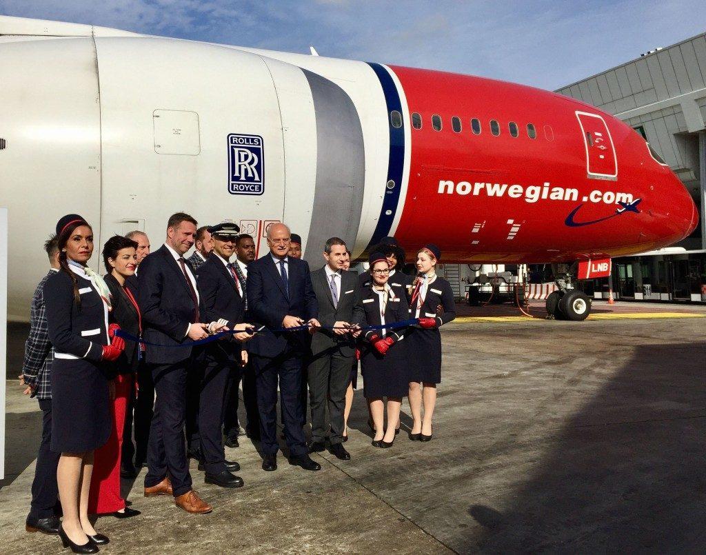Norwegian, primo volo low cost Roma-New York