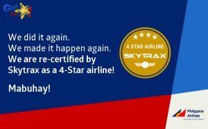 Skytrax conferma le 4 stelle per Philippine Airlines