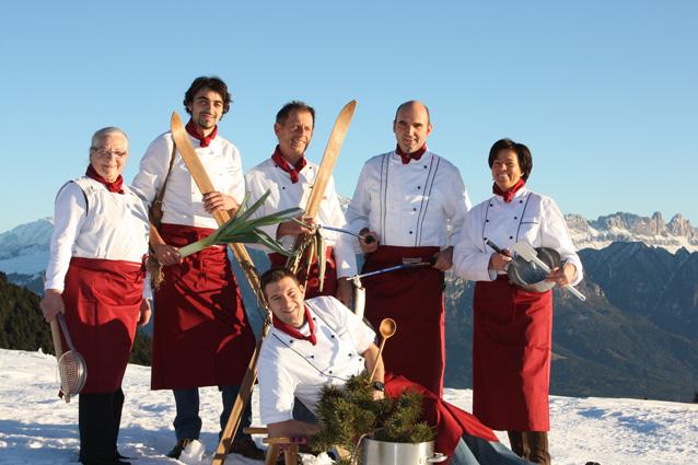 Gastronomia sulla neve sul Corno del Renon