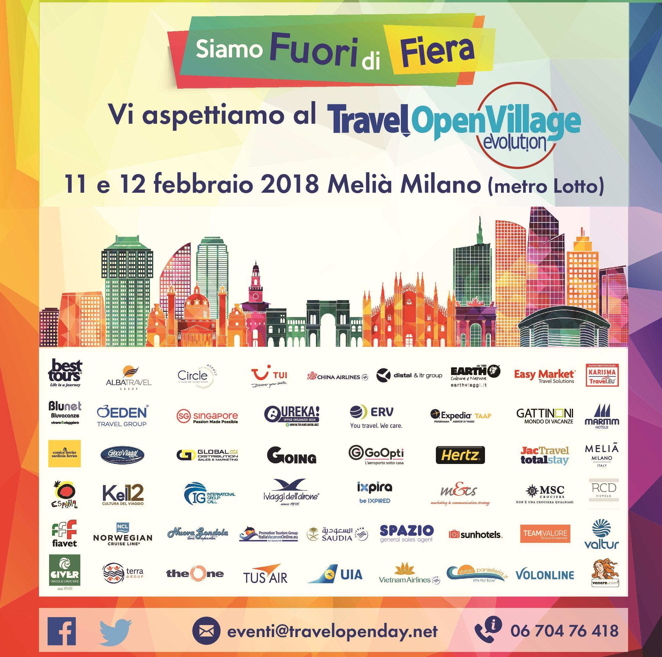 Domenica 11 febbraio tutti al Travel Open Village Evolution