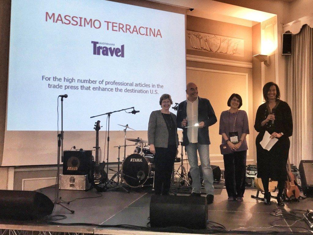 Il VisitUsa premia Massimo Terracina per la stampa trade