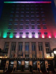 Gruppo Una: facciata tricolore per il Principi di Piemonte