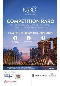 Raro Competition, fam trip di lusso tra Malesia e Singapore per le adv