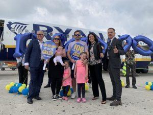Ryanair festeggia i 100 milioni di passeggeri a Milano Bergamo. E guarda al futuro