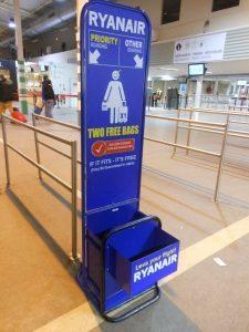 Ryanair e la policy sul bagaglio a mano