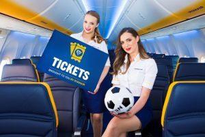 Ryanair vende online pure ticket per grandi eventi di sport