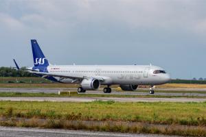 Sas accoglie in flotta il primo A321Lr utilizzando carburante sostenibile
