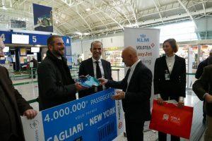 Cagliari, l'aeroporto festeggia i 4 milioni di passeggeri