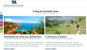 Blog e social protagonisti del nuovo sito di Grimaldi Lines