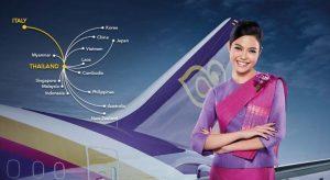 Thai Airways promuove i voli oltre Bangkok, verso Cina e Giappone