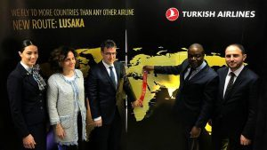 Turkish Airlines vola a Lusaka, 55a destinazione in Africa