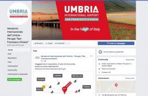 L'aeroporto di Perugia sbarca sui canali social