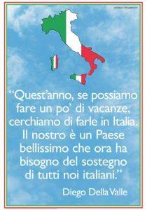 Diego della Valle: «Quest'anno facciamo le vacanze in Italia»