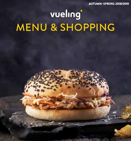Vueling: nuovo menù e shopping a bordo