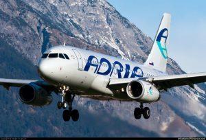Adria Airways: sette nuove destinazioni per l'estate 2018