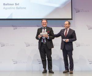 Baltour, il presidente Ballone premiato per gli autobus Man