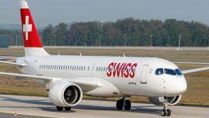 Swiss: a terra la flotta di A220 a causa di problemi ai motori