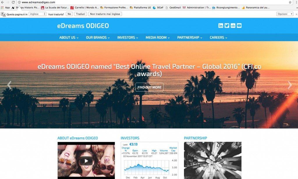 eDreams Odigeo valuta la fusione e la vendita delle azioni