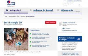 Europ Assistance, con Eura Famiglia 3D con 3 componenti di protezione