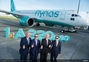 Flynas prende in consegna l'Airbus A320neo