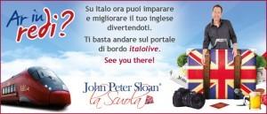Italo: l'inglese si impara in treno, con John Peter Sloan