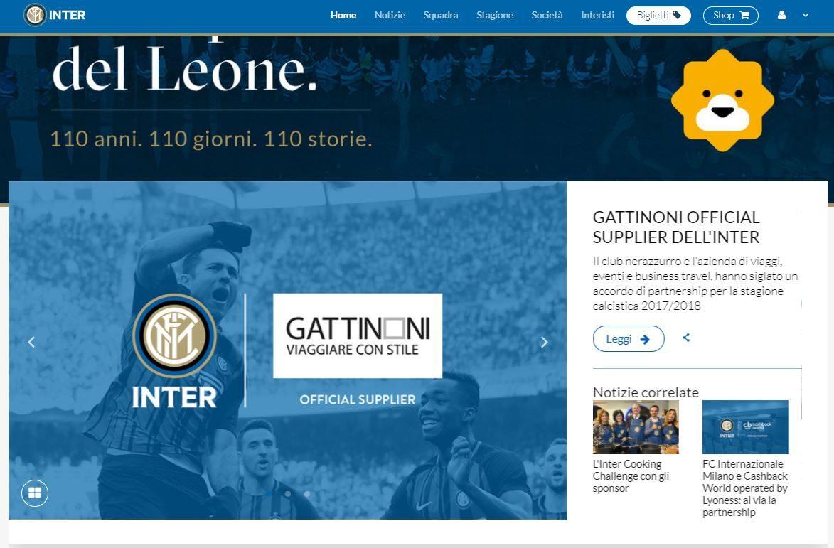 Gattinoni diventa fornitore ufficiale dell'Inter