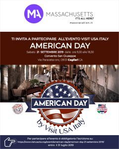Il Massachusetts a Cagliari per l'American Day del 21 settembre