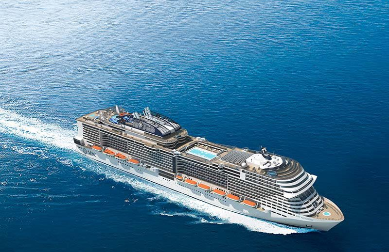 Msc Bellissima, concluso il ciclo delle prove in mare. Battesimo il 2 marzo a Southampton