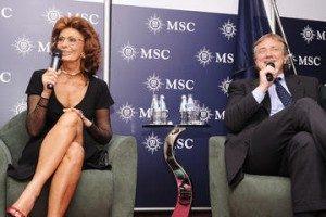 Msc Seaview, domani a Genova il battesimo con Sofia Loren e Michelle Hunziker