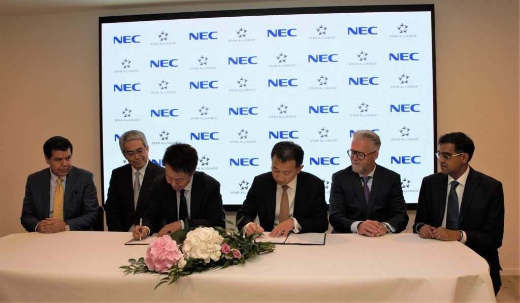 Partnership Star Alliance e NEC Corporation per l'identificazione biometrica