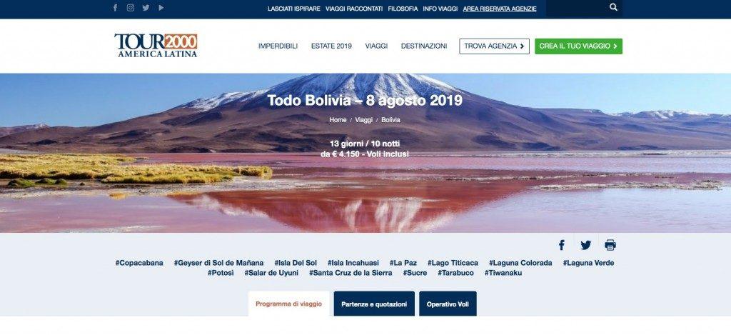 Todo Bolivia, 8 agosto partenza speciale di Tour2000America Latina