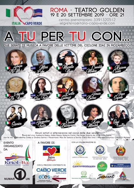 Italia incontra Capo Verde in un evento musicale benefico a Roma