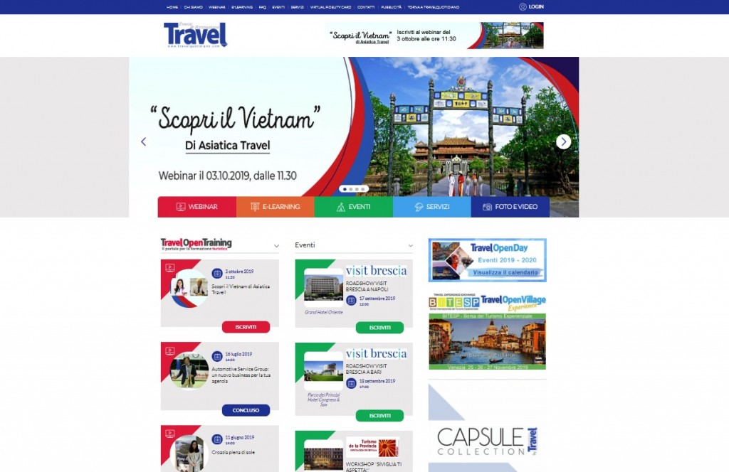 Eventi & Webinar: la nuova area web di Travel Quotidiano