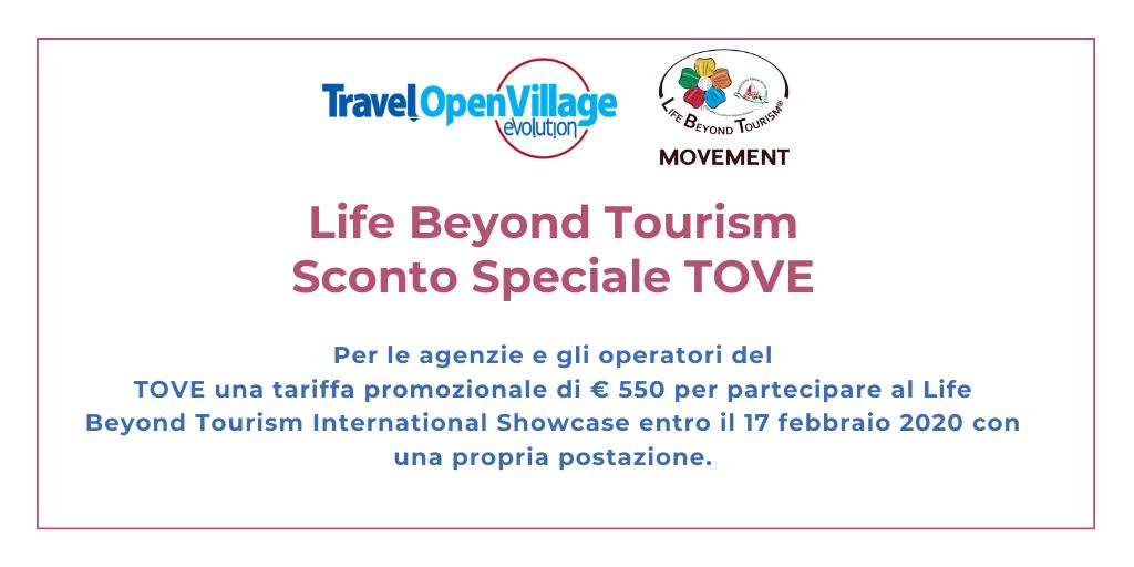Life Beyond Tourism: sconto speciale ad agenzie ed operatori del TOVE