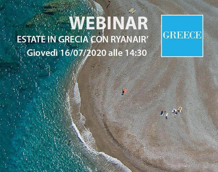 """""""Estate in Grecia con Ryanair"""": il webinar del 16 luglio"""