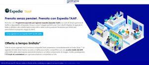 Expedia: nuovi incentivi per le adv che prenotano sul portale con il programma Taap