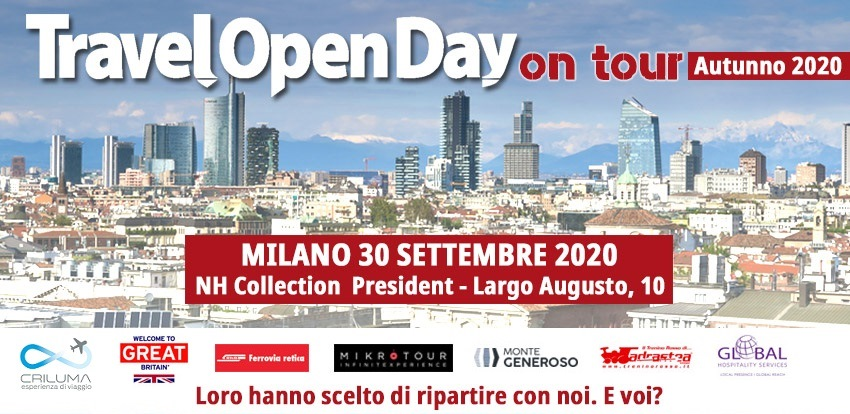 Travel Open Day Milano: al via il 30 settembre