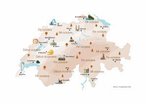 """Svizzera: la """"mappa dei colori"""" per pianificare soggiorni brevi e passeggiate"""