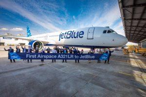 JetBlue accoglie in flotta il primo A321Lr con i nuovi interni Airspace