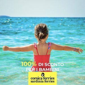 Corsica Sardinia Ferries: bambini gratis per chi prenota entro il 16 maggio