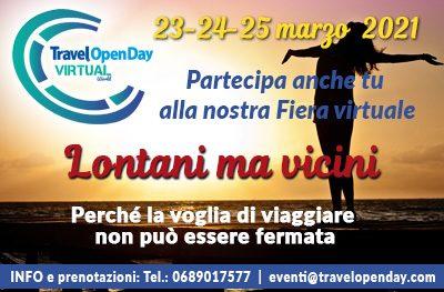 Travel open Day Virtual: il 23-24-25 marzo la seconda edizione