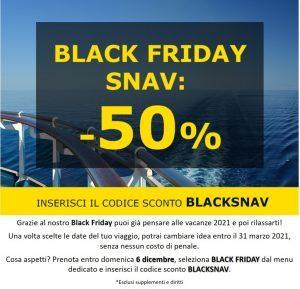 Snav lancia sul mercato il suo Black Friday: tariffe al 50%