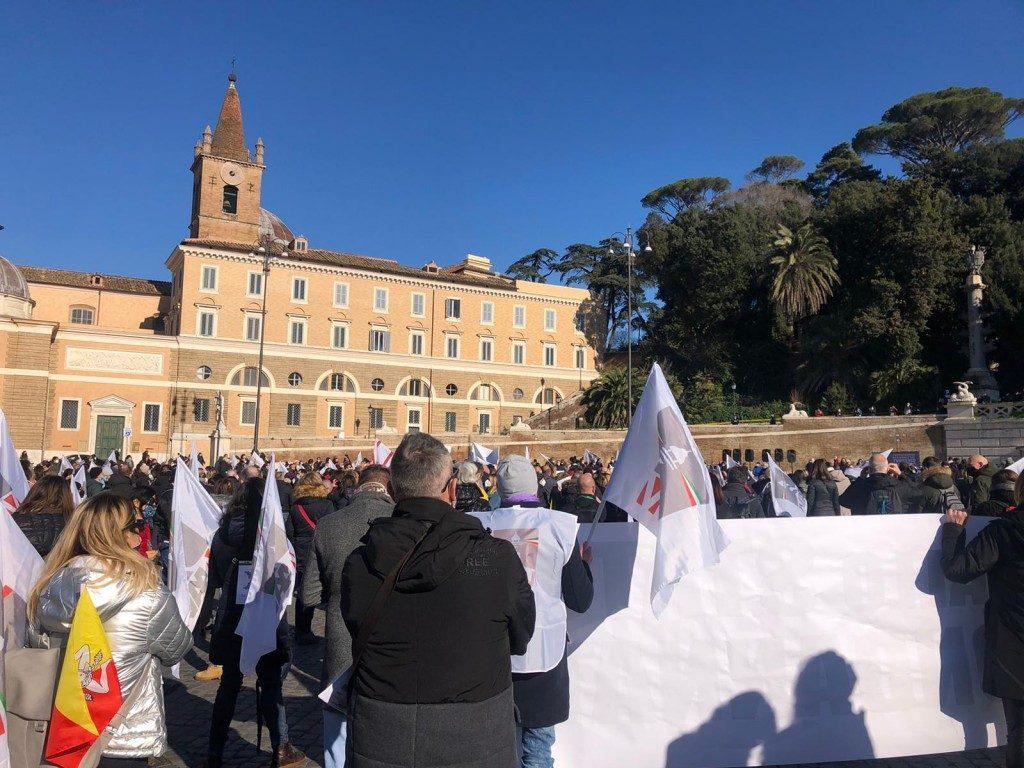 Buona partecipazione alla manifestazione degli agenti di viaggio a Roma