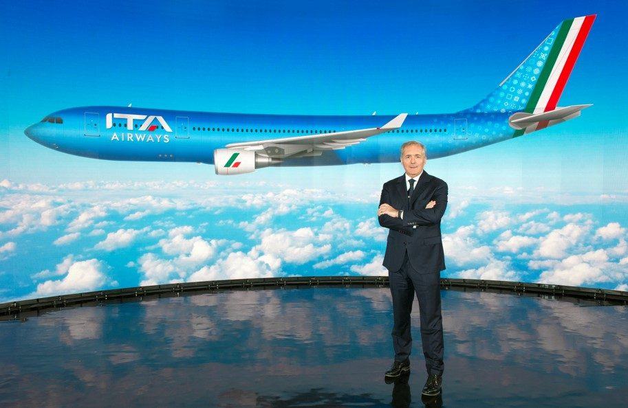 Parte Ita Airways. Livrea azzurra. 52 aeromobili e 44 destinazioni